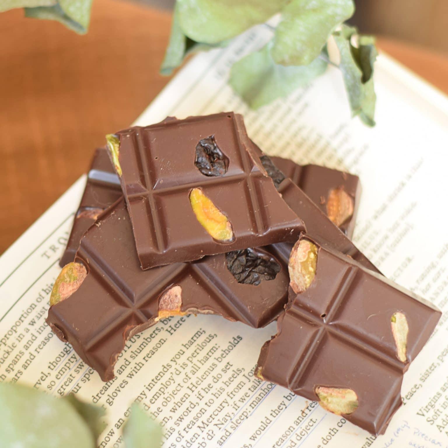 Dark Chocolate Cherry and Pistachio