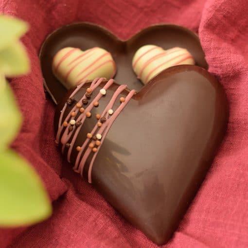 Dark Chocolate Heart Box